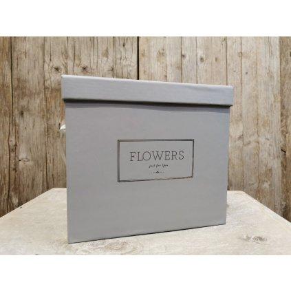 flower box na kvety hranatý šedý 18x21x21m