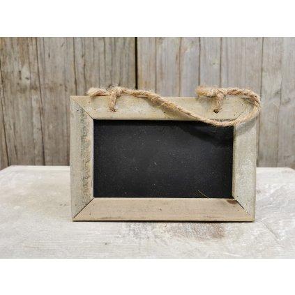 drevená tabuľka na zavesenie písanie s kriedou 10x15cm