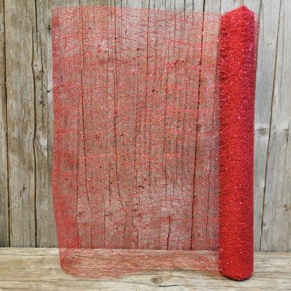 organa na dekorovanie červená 49cmx3m