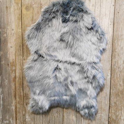 podložka umelá kožušina šedá 63x92cm
