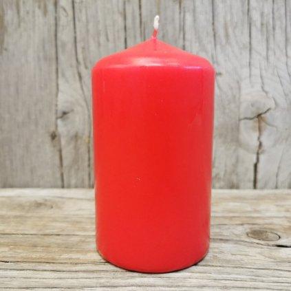 sviečka červená 6x10cm