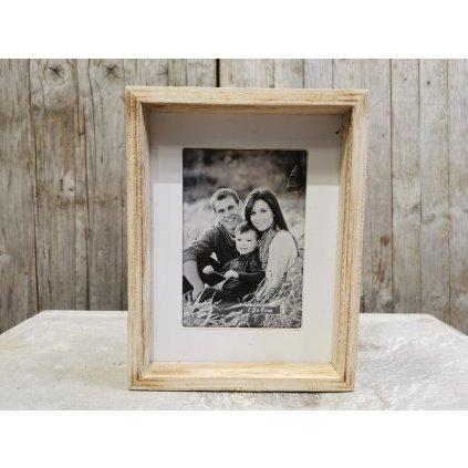 fotorámik drevený prírodný 18x14cm