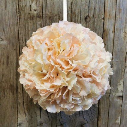 kvetinová gúľa na zavesenie bledo ružova 20cm
