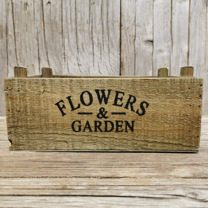 debnička drevená flower garden 23x14x9cm