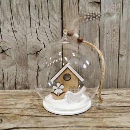 domček v sklenenej guli 10cm