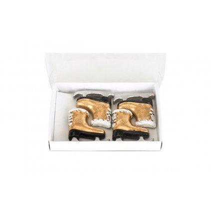 Korčuľa zlatá nalepovacia z polyresinu, cena za 1ks 3,5x3,5x7cm