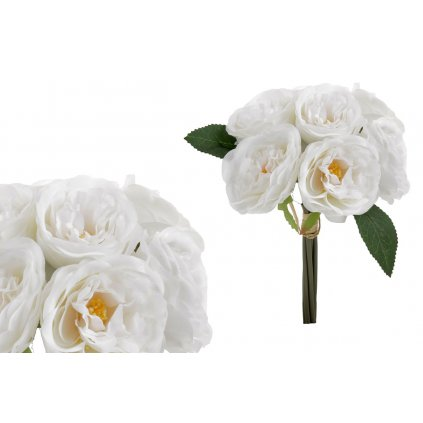 kytica ruží, farba biela18x27x18cm