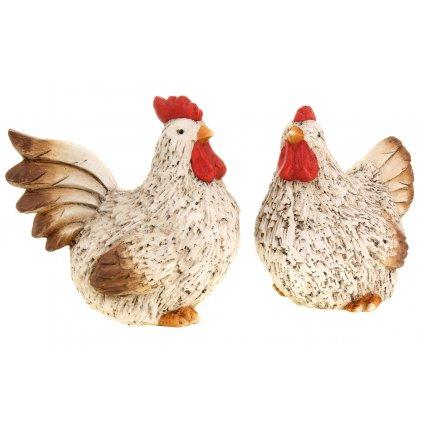 Kohút, sliepka keramická dekorácia cena za 1 kus 18x16x10 cm