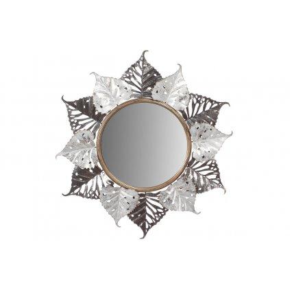 Zrkadlo, nástenná dekorácia, motív lipových listov