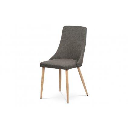 coffee fabric 067-16, Leg: wooden-like metal tube