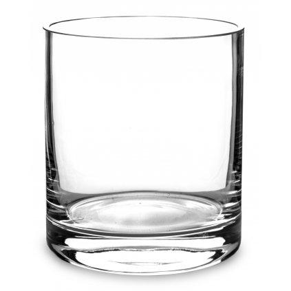 Váza priehľadne sklo valec 14x12,5x12,5cm  137944