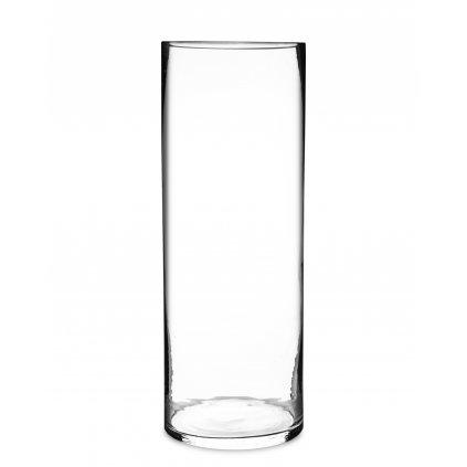 váza sklenená priehľadne sklo 50x18x18cm 100954