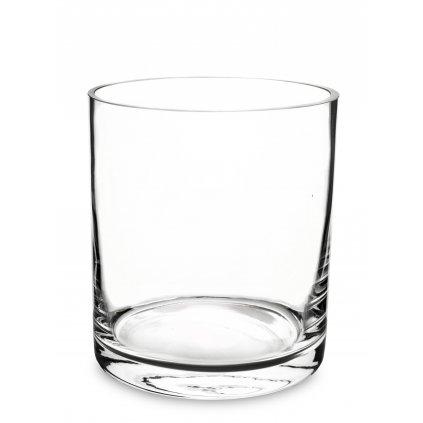 váza priehľadne sklo 18x16x16cm 139742