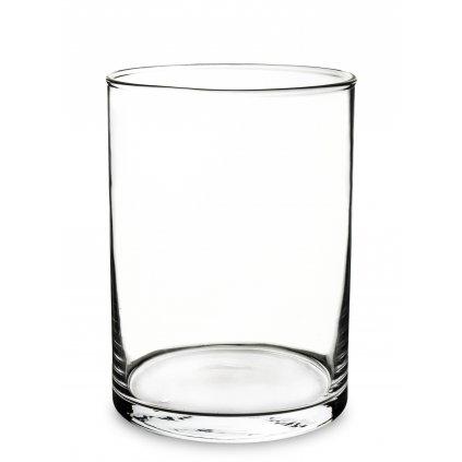 váza priehľadne sklo 22x16x16cm  139711