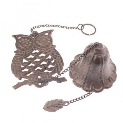 Liatinový zvonček sova 11×35,5×9cm