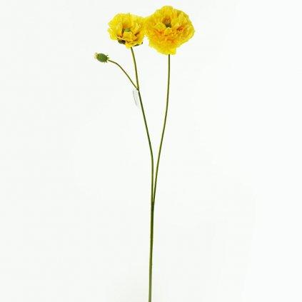 MAK ŽLTÝ umelý kvet