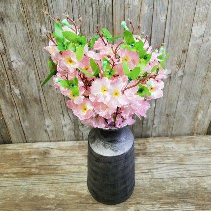 čerešňa jemne rúžová umelá vetvička 40cm