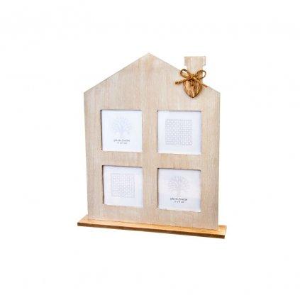 fotorámik domček drevený 35x6x42cm