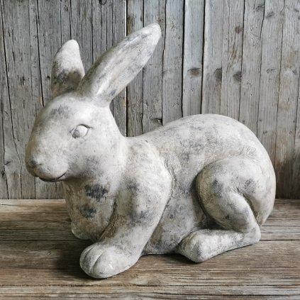 zajac šedý záhradná dekorácia  mgo keramika 40x32x19cm