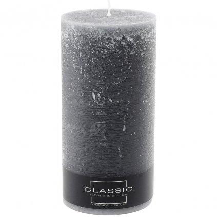 sviečka valec RUSTIC CLASSIC 100/200 Tmavosivý