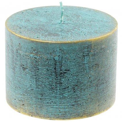 sviečka valec RUSTIC LOFT 100/70 Zelenomodrá