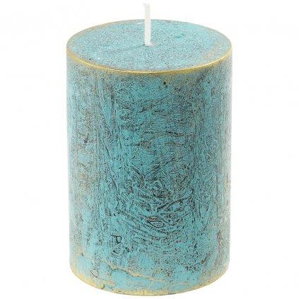 sviečka valec RUSTIC LOFT 70/100 Zelenomodrá