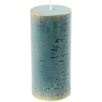 sviečka valec RUSTIC LOFT 70/150 Zelenomodrá