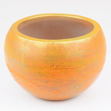 svietnik RUSTIC LOFT OKRÚHLY Oranžový