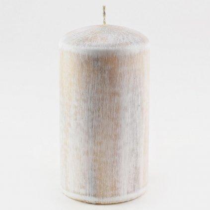 sviečka valec WHITE WOOD SIVÝ 70/130