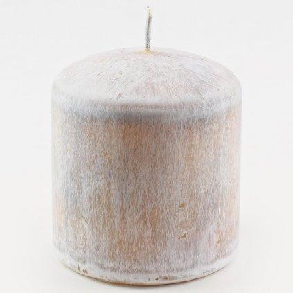 sviečka valec WHITE WOOD SIVÝ 80/90