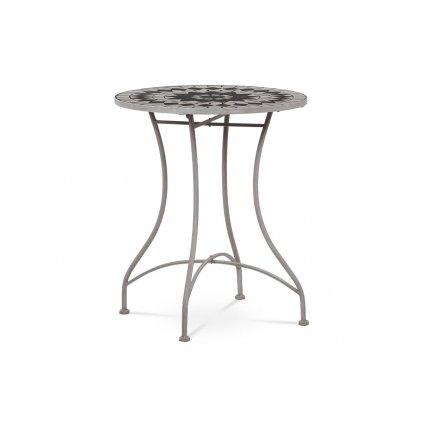 Záhradný stôl, doska z keramickej mozaiky, kovová konštrukcia,sivý lak Antik (typovo ku stoličke JF2229 a lavici JF2230)