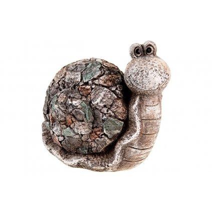 slimák, z MGO keramiky, záhradná dekorácia 27x32x16CM
