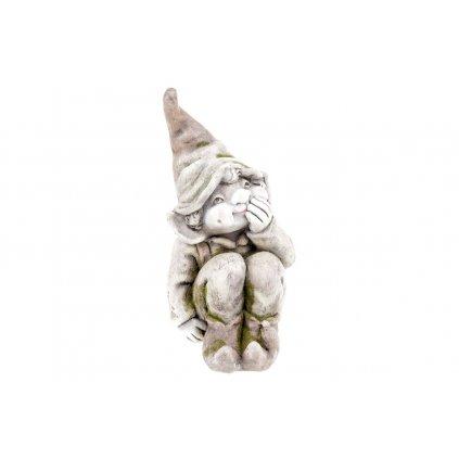Škriatok, MgO keramika, zahradná dekorácia,19x36x24cm