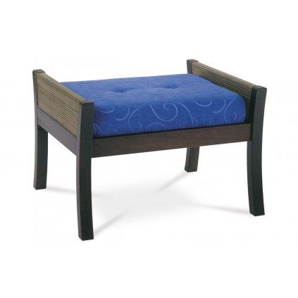 taburet 710x50x45, modrá látka, nohy masív