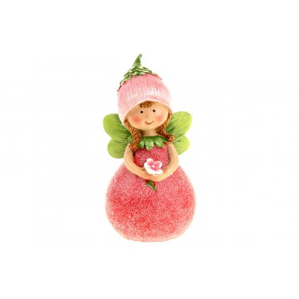 Ružová víla polyresin 6x12x5cm