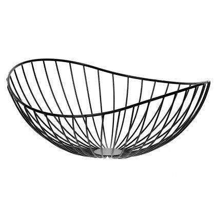 Košík, kovová dekorácia, farba čierna 32x13x28cm