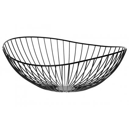 Košík, kovová dekorácia, farba čierna 38x14x34cm