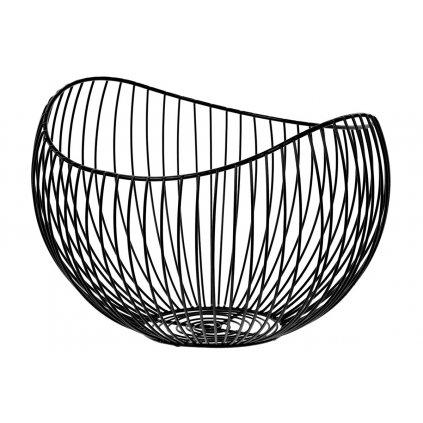Košík, kovová dekorácia, farba čierna 31x20x28cm