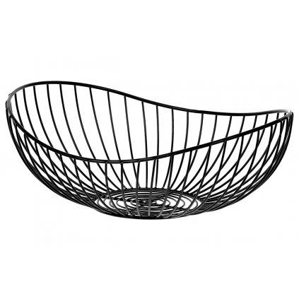 Košík, kovová dekorácia, farba čierna 30x12x25cm
