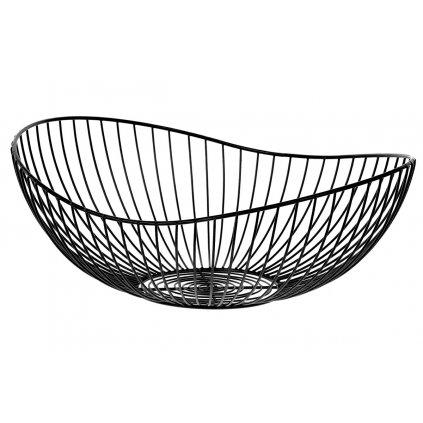 Košík, kovová dekorácia, farba čierna 37x15x33 cm