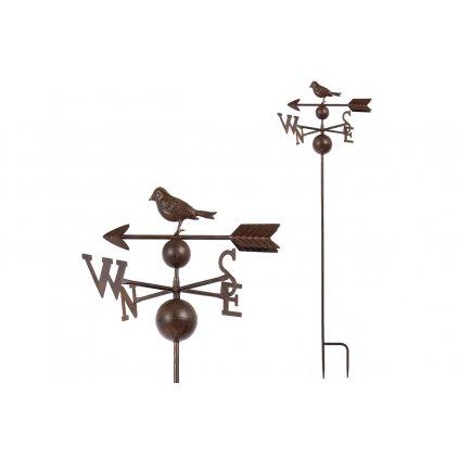 Zápich zahradný kovový  otáčavý - svetové strany,39x121x33cm