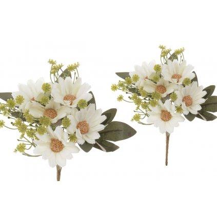 Margarétka smotanová umelý kvet 18x25x18cm