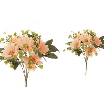 Umelý kvet, margarétka, farba oranžová,18x25x18cm