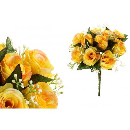 Kytica ruží,farba žltá,18x30cm