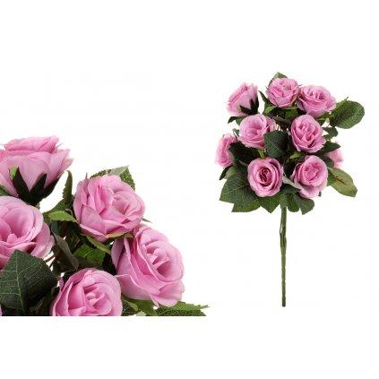 Kytica ruží, farba ružová,15x45cm