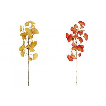 Ginkgo biloba,umelý kvet,v oranžovej a žltej farbe,20x75x20cm,cena za 1kus