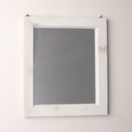 Zrkadlo biely rám 34×2×39cm