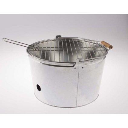 grill Plechový biely prenosný 35×30×20cm