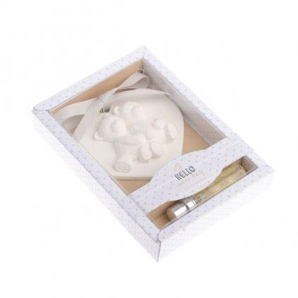 vonne Ílové srdiečko dekorácia +5ml vôňa Jasmín,10,5x15x2,5cm