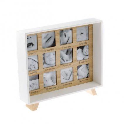 fotorámik drevený na jeden rôčik 29,5×25×4,5cm